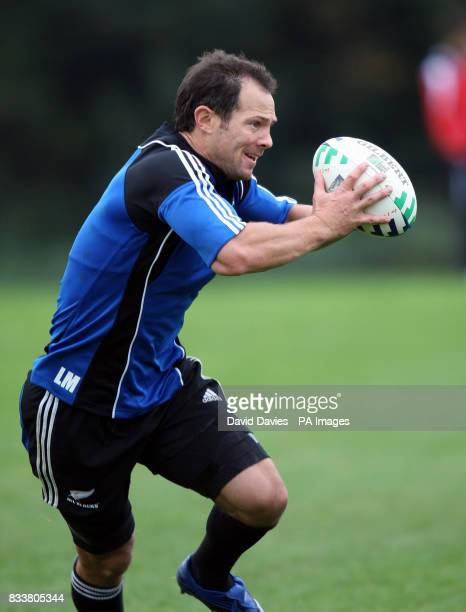New Zealand All Blacks Leon MacDonald during a training session at The Vale Hensol Vale of Glamorgan