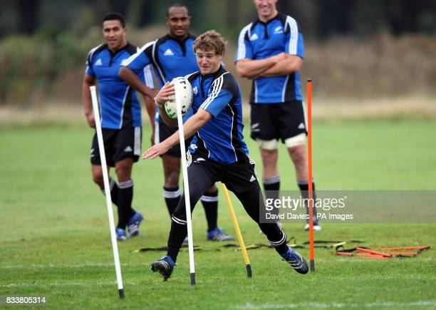 New Zealand All Blacks Nick Evans during a training session at The Vale Hensol Vale of Glamorgan