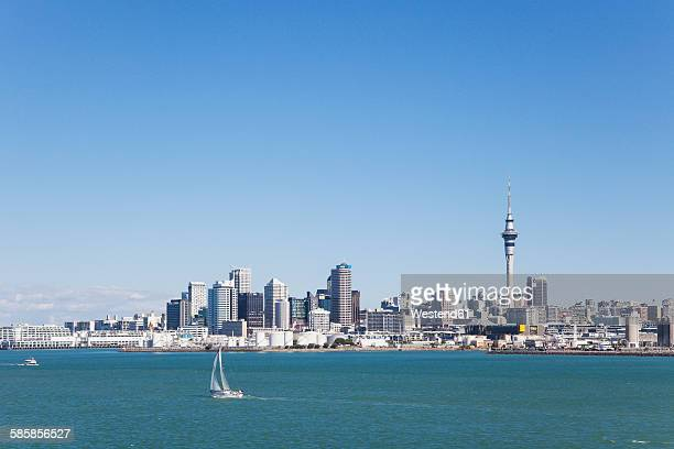 New Zealand, Auckland, Skyline, City Center, Central Business District, Sky Tower, Waitemata Harbour, Viaduct Harbour