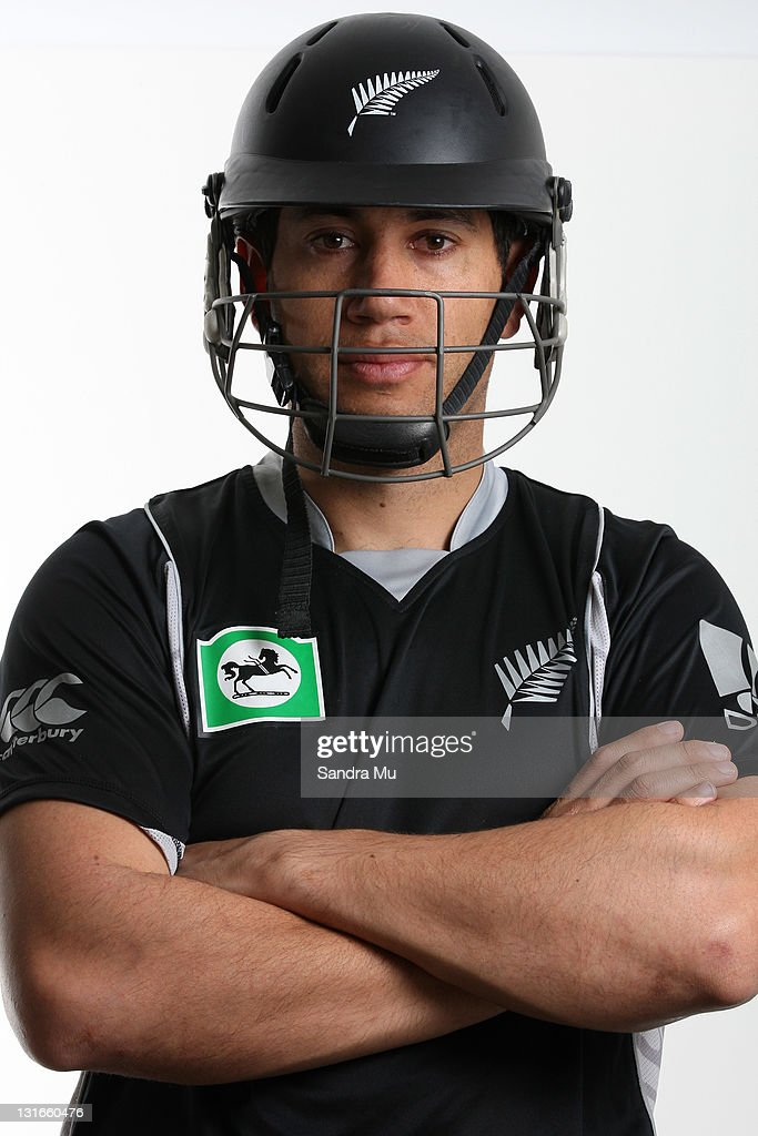 New Zealand Black Caps captain <a gi-track='captionPersonalityLinkClicked' href=/galleries/search?phrase=Ross+Taylor&family=editorial&specificpeople=845922 ng-click='$event.stopPropagation()'>Ross Taylor</a> poses during a portrait session on October 6, 2011 in Hamilton, New Zealand.