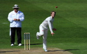 New Zealand bowler Kane Williamson in action during day two of 2nd Investec Test match between England and New Zealand at Headingley on May 25 2013...
