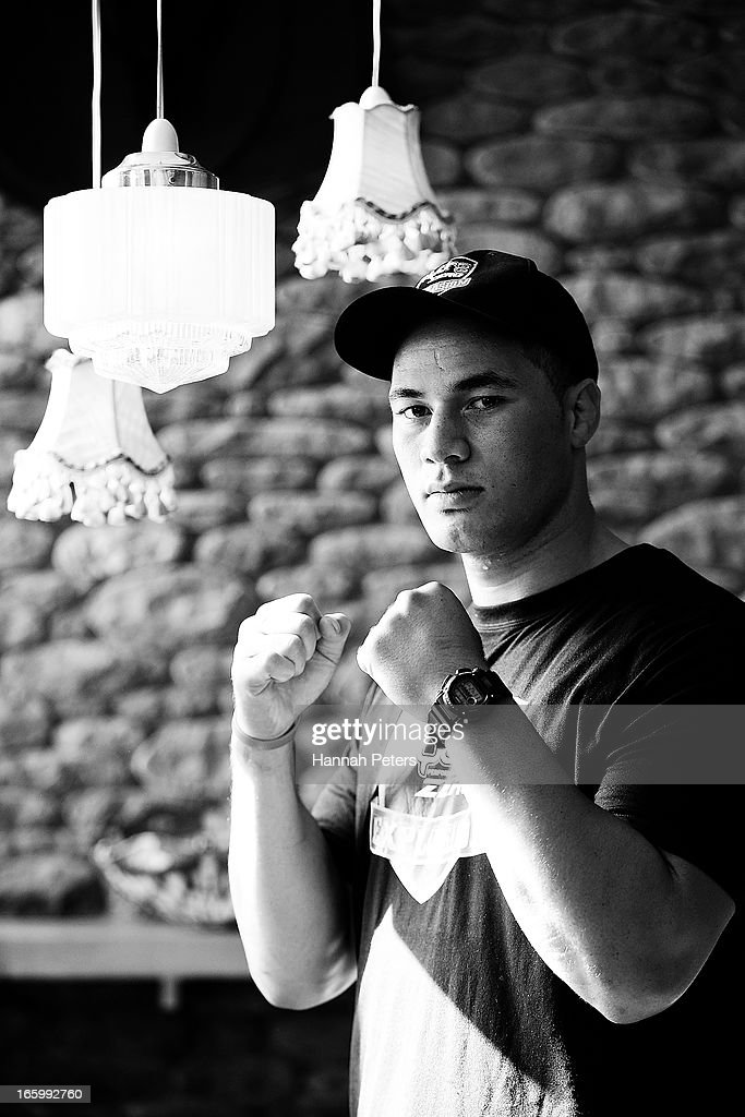 New Zealand boxer Joseph Parker poses for a photo following a press conference with Francois Botha of South Africa at the Northern Steamship Bar on April 8, 2013 in Auckland, New Zealand. Parker will fight Botha in 8 x 3 minute rounds on Thursday 13 June in Auckland.