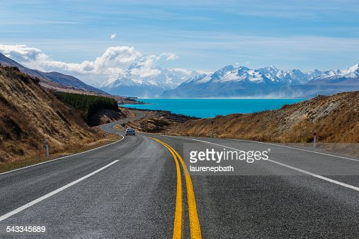 New Zealand, Canterbury region, Winding road