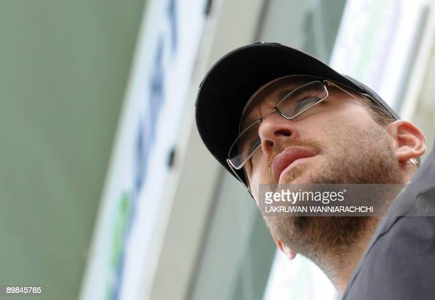 New Zealand cricket captain Daniel Vettori looks on before the opening Test match between Sri Lanka and New Zealand at The Galle International...
