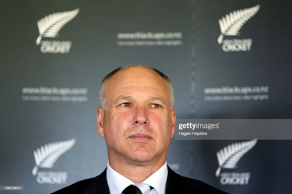 New Zealand Cricket CEO David White looks on during a New Zealand cricket media opportunity at Basin Reserve on December 12, 2012 in Wellington, New Zealand.