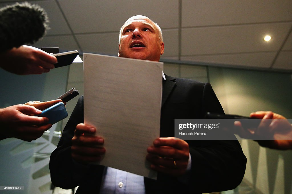 New Zealand Cricket Chief Executive David White talks to the media regarding speculation about matchfixing at NZC offices on May 15 2014 in Auckland...