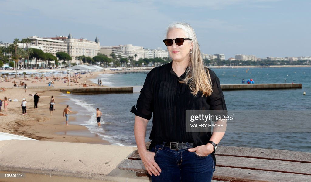 New Zealand director Jane Campion poses during a photocall for the TV series 'Top of the Lake' as part of the Mipcom international audiovisual trade show at the Palais des Festivals, in Cannes, southeastern France, on October 9, 2012. AFP PHOTO / VALERY HACHE