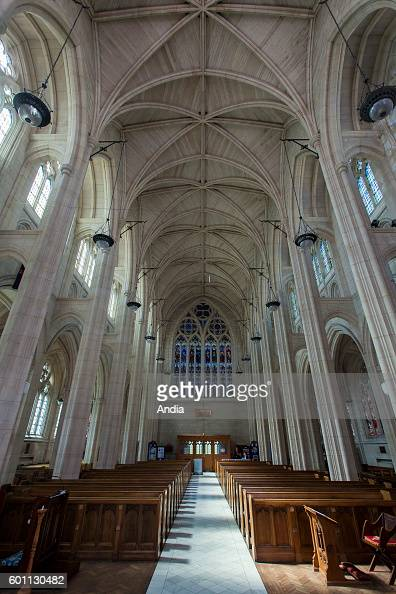 Dunedin city of the Otago Region in the South Island Nave of St Paul's Cathedral