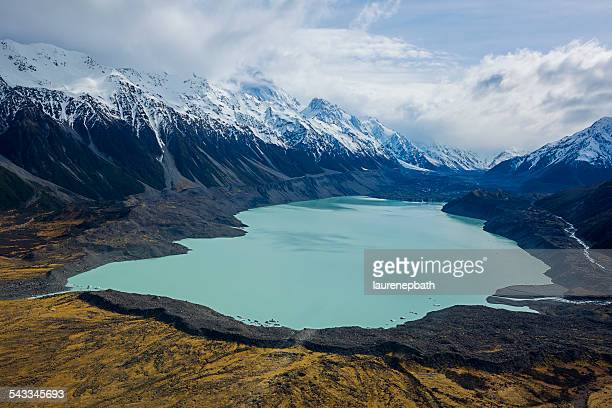 New Zealand, Elevated view of Tasman Glacier
