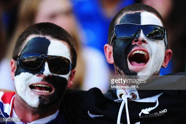 New Zealand fans enjoy the atmosphere prior to the 2010 FIFA World Cup South Africa Group F match between Italy and New Zealand at the Mbombela...