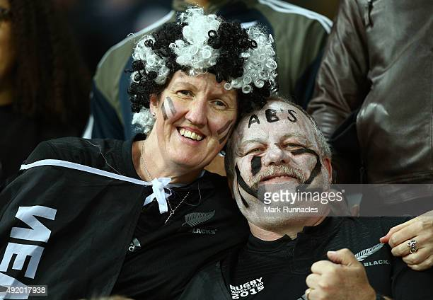 New Zealand fans soak up the atmosphere prior to kickoff during the 2015 Rugby World Cup Pool C match between New Zealand and Tonga at St James' Park...