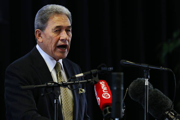 NZL: Winston Peters Attends Community Rally Over Future Of Tiwai Point