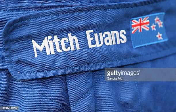 New Zealand GP3 driver Mitch Evans New Zealand race suit is seen during a portrait session at Mt Wellington Kartclub on August 11 2011 in Auckland...