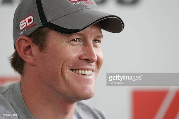 New Zealand Indy Racing Car Driver Scott Dixon launches his design for the CanTeen Bandanna Challenge at the Hilton Hotel on September 23 2008 in...