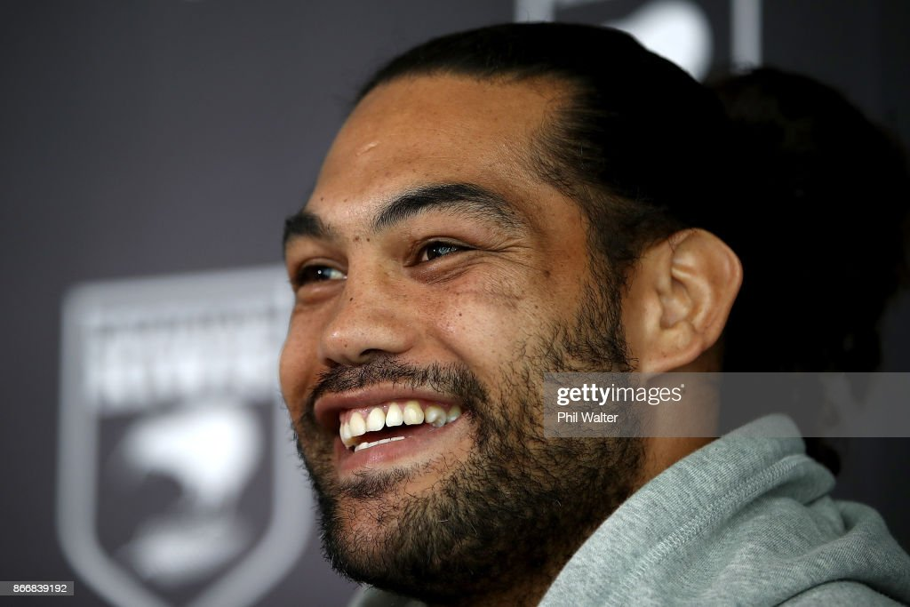 New Zealand Kiwi's Captain Adam Blair speaks during a New Zealand Kiwis Rugby League World Cup Press Conference at the Grand Mercure on October 27, 2017 in Auckland, New Zealand.