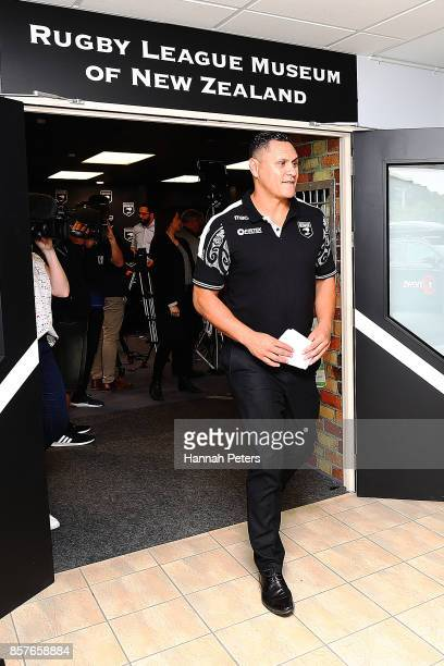 New Zealand Kiwis coach David Kidwell leaves after speaking to the media during the New Zealand Kiwis Rugby League World Cup Squad Announcement at...