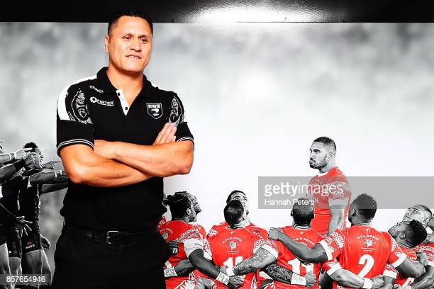 New Zealand Kiwis coach David Kidwell poses for a photo following the New Zealand Kiwis Rugby League World Cup Squad Announcement at Rugby League...