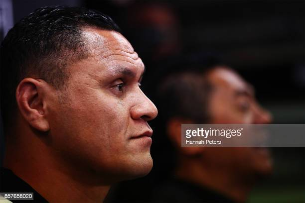 New Zealand Kiwis coach David Kidwell speaks to the media during the New Zealand Kiwis Rugby League World Cup Squad Announcement at Rugby League...