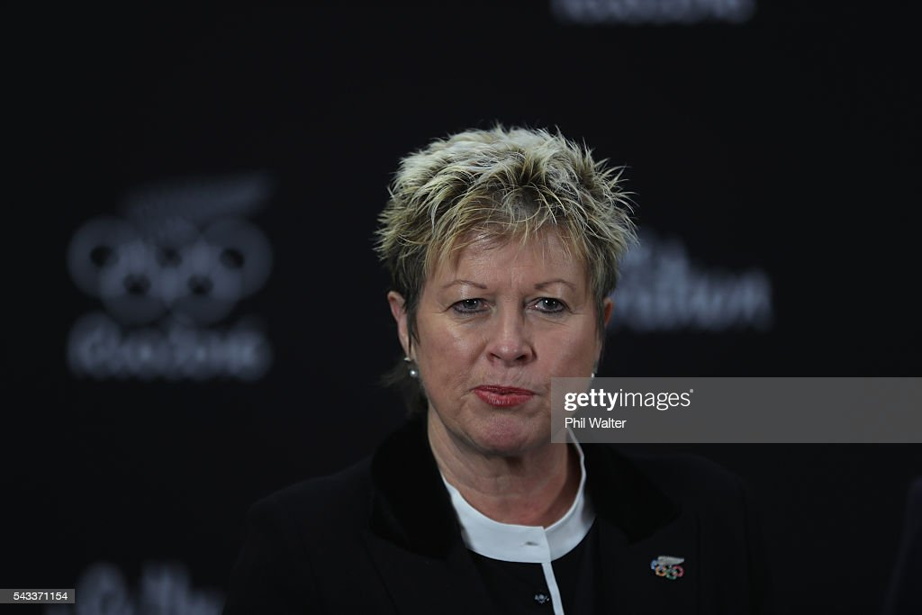 New Zealand Olympic Committee CEO Kereyn Smith speaks during the New Zealand Olympic Weightlifting Team Selection announcement at Functional Strength HQ on June 28, 2016 in Auckland, New Zealand.