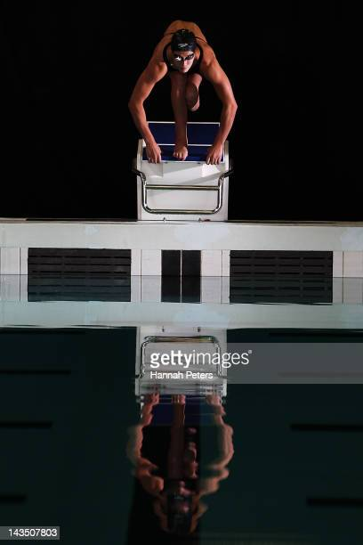 New Zealand Paralympic swimmer Sophie Pascoe poses during a portrait session at Milennium Institute on April 27 2012 in Auckland New Zealand