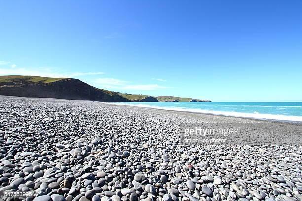 New Zealand pebble beach