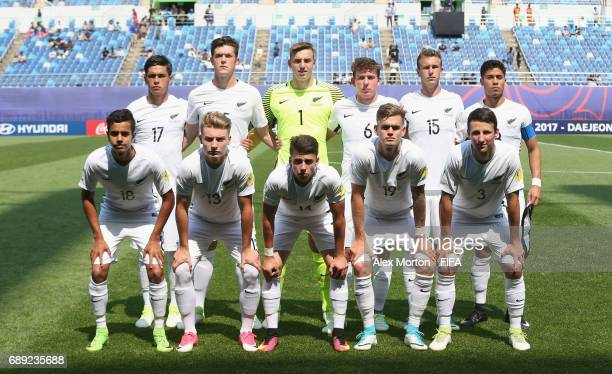 New Zealand players pose for a team photo prior to the FIFA U20 World Cup Korea Republic 2017 group E match between New Zealand and France at Daejeon...