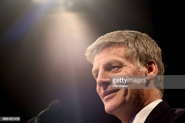 New Zealand Prime Minister Bill English makes his post budget speech to a business luncheon at the Sky City Convention Centre on May 26 2017 in...