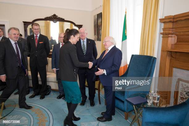 New Zealand Prime Minister elect Jacinda Ardern and possibly the new Speaker of the House Trevor Mallard meet with Irish President Michael D Higgins...