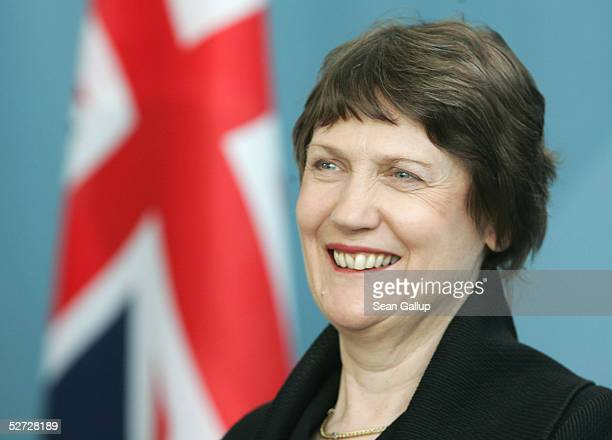 New Zealand Prime Minister Helen Clark attends a news conference with German Chancellor Gerhard Schroeder April 28 2005 in Berlin Germany Clark is on...
