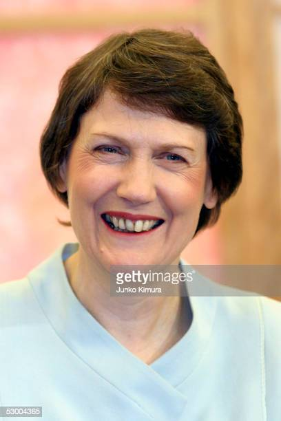 New Zealand Prime Minister Helen Clark talks with Japanese Foreign Minister Nobutaka Machimura at a meeting at the Foreign Ministry on June 1 2005 in...