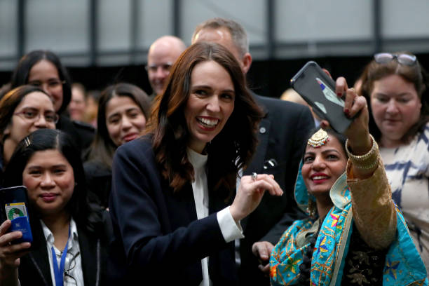 NZL: Prime Minister Jacinda Ardern Attends Opening Of New Fisher and Paykel Healthcare Building