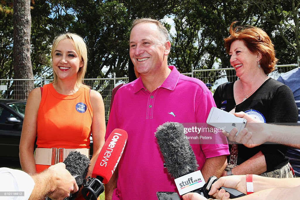 New Zealand Prime Minister <a gi-track='captionPersonalityLinkClicked' href=/galleries/search?phrase=John+Key&family=editorial&specificpeople=2246670 ng-click='$event.stopPropagation()'>John Key</a> is interviewed at The Big Gay Out on February 14, 2016 in Auckland, New Zealand.