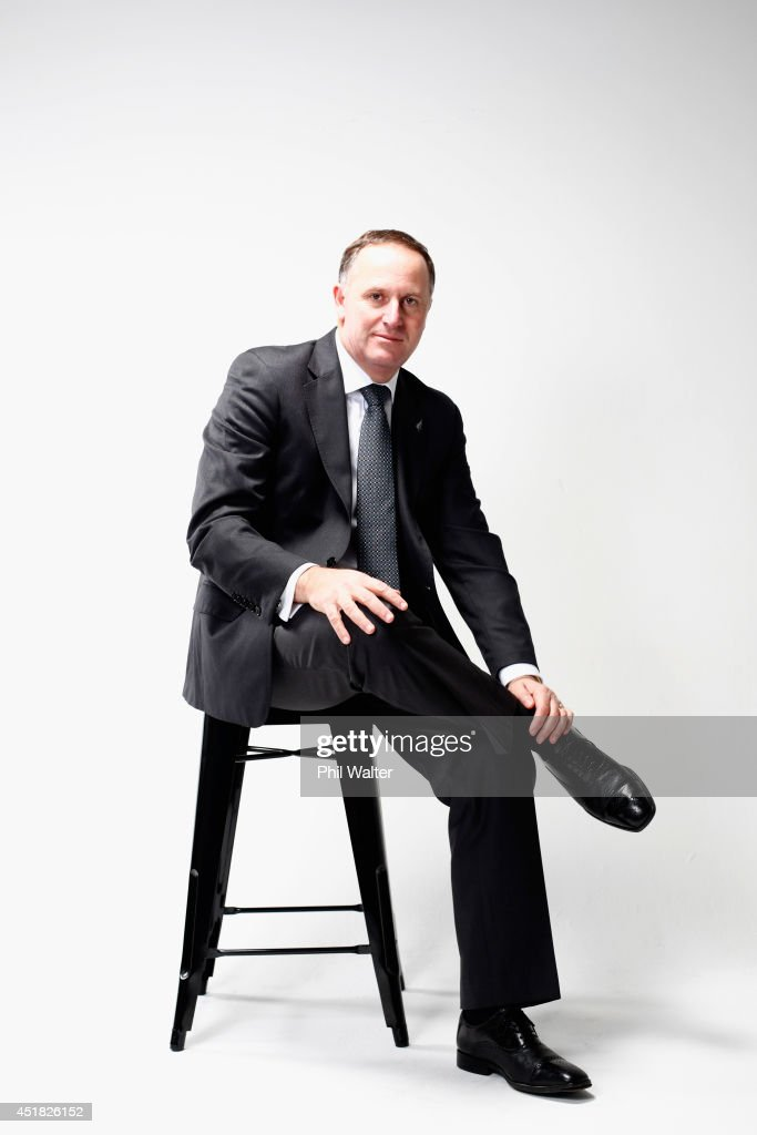 New Zealand Prime Minister <a gi-track='captionPersonalityLinkClicked' href=/galleries/search?phrase=John+Key&family=editorial&specificpeople=2246670 ng-click='$event.stopPropagation()'>John Key</a> poses during a portrait session at Minnie St Studios on July 8, 2014 in Auckland, New Zealand. <a gi-track='captionPersonalityLinkClicked' href=/galleries/search?phrase=John+Key&family=editorial&specificpeople=2246670 ng-click='$event.stopPropagation()'>John Key</a> is the 38th Prime Minister of New Zealand and the leader of the New Zealand National Party. The 2014 New Zealand general election will be held on Saturday September 20, 2014.