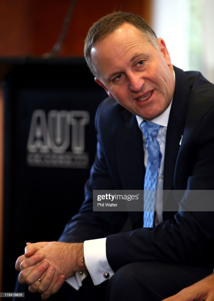New Zealand Prime Minister <a gi-track='captionPersonalityLinkClicked' href=/galleries/search?phrase=John+Key&family=editorial&specificpeople=2246670 ng-click='$event.stopPropagation()'>John Key</a> speaks at the Auckland University of Technology's Manukau Campus on July 12, 2013 in Auckland, New Zealand. The Government today announced a major expansion to the Manukau Campus, which will see the number of full time students increase from the current 940 to 4100 by 2020.