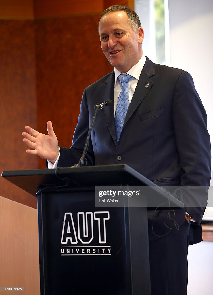 New Zealand Prime Minister John Key speaks at the Auckland University of Technology's Manukau Campus on July 12, 2013 in Auckland, New Zealand. The Government today announced a major expansion to the Manukau Campus, which will see the number of full time students increase from the current 940 to 4100 by 2020.