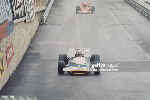 New Zealand racing driver Chris Amon drives the Equipe Matra MS120B Sports V12 for the Matra team to finish in 4th place in the 1971 Monaco Grand...
