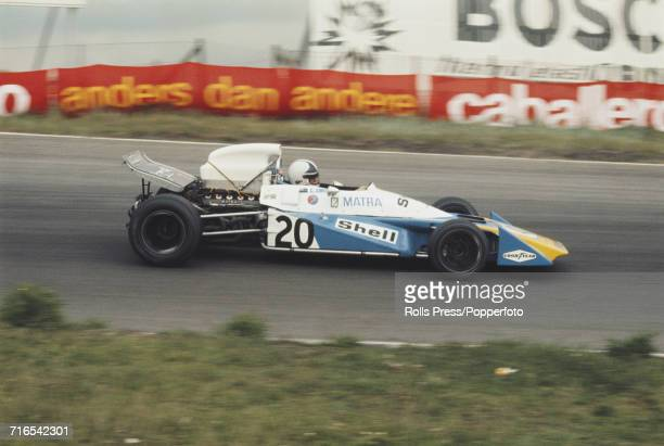 New Zealand racing driver Chris Amon drives the Matra MS120B Matra MS71 30 V12 for Equipe Matra Sports Team in the 1971 Dutch Grand Prix at Zandvoort...