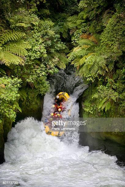 New Zealand, Rotorua, Rafting in Kaituna River.
