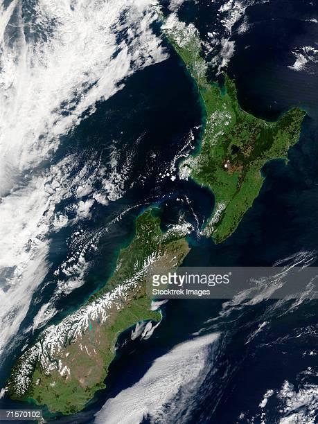 'New Zealand, satellite image'