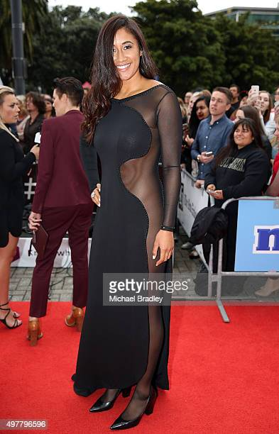 New Zealand Silver Ferns netball Player Maria Tutaia arrives at the Vodafone New Zealand Music Awards at Vector Arena on November 19 2015 in Auckland...