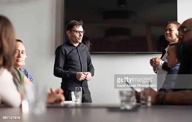 New Zealand small to medium business meeting.