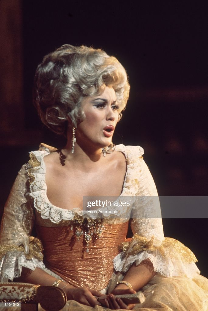 Dame Kiri Te Kanawa as the Countess in Mozart's opera 'Le Nozze di Figaro' at the Royal Opera House Covent Garden London