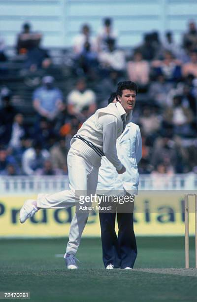 New Zealand spin bowler John Bracewell in action during the 1983 New Zealand tour of England