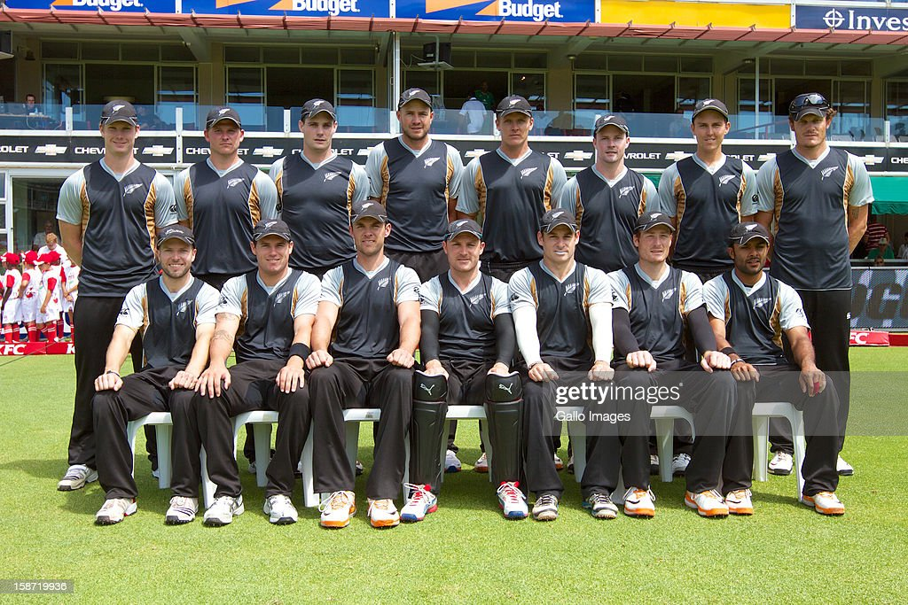 New Zealand Team photo during the 3rd T20 International match between South Africa and New Zealand at AXXESS St Georges on December 26, 2012 in Port Elizabeth, South Africa.