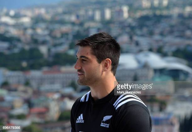 New Zealand U20 Rugby Captain Zach Mercer during the World Rugby U20 Championship Final Captain's Photocall at the Narikala Fortress on June 16 2017...