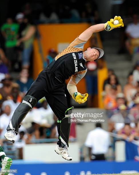 New Zealand wicketkeeper Brendon McCullum during the ICC World Twenty20 Super Eight match between New Zealand and Pakistan at the Kensington Oval on...