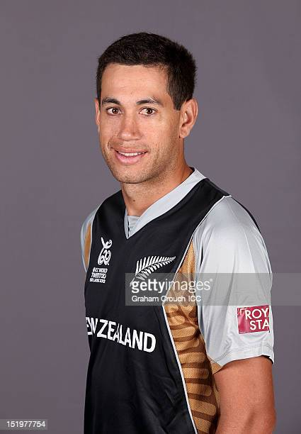 New Zealand's captain Ross Taylor poses during a portrait session ahead of the ICC T20 World Cup on September 14 2012 in Colombo Sri Lanka