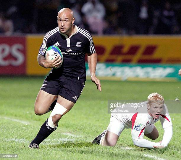 New Zealand's DJ Forbes during the IRB World Sevens Series between England and New Zealand held on December 7 2007 in George South Africa