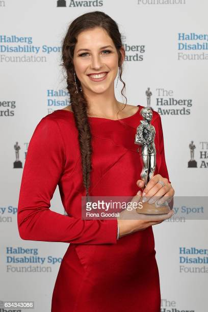 New Zealand's Favorite Sporting Moment of the Year winner Eliza McCartney for her Olympic pole vault medal moment at the 54th Halberg Awards at...