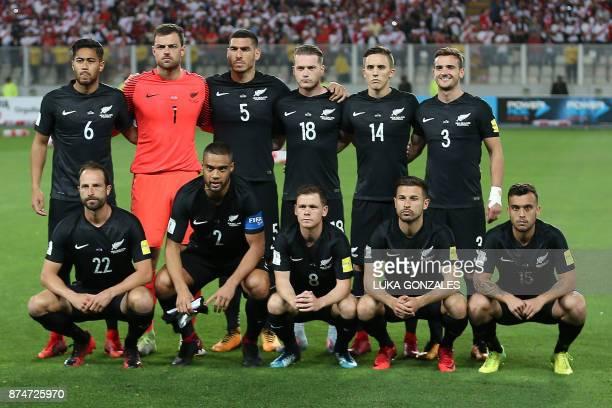 New Zealand's football team players Bill Tuiloma goalkeeper Stefan Marinovic Michael Boxall Kip Colvey Ryan Thomas Deklan Wynne Andrew Durante...